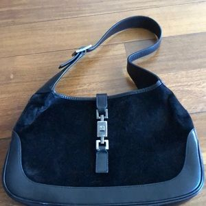 Authentic Gucci Jackie bag in pony hair & leather